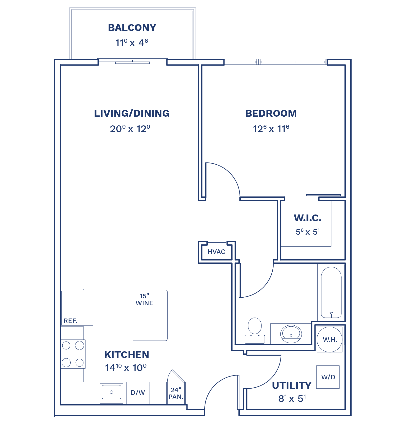 Floorplan of Unit A2