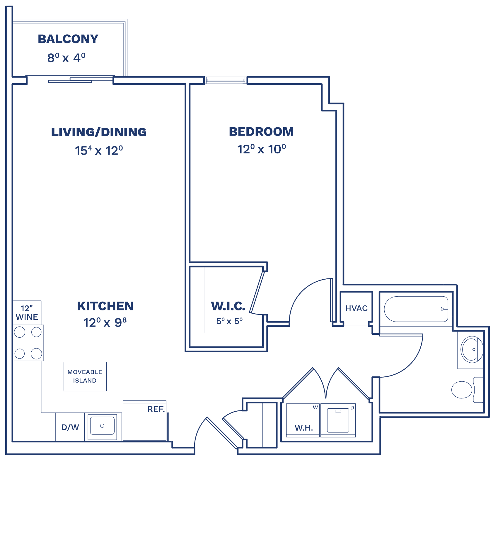Floorplan of Unit A1