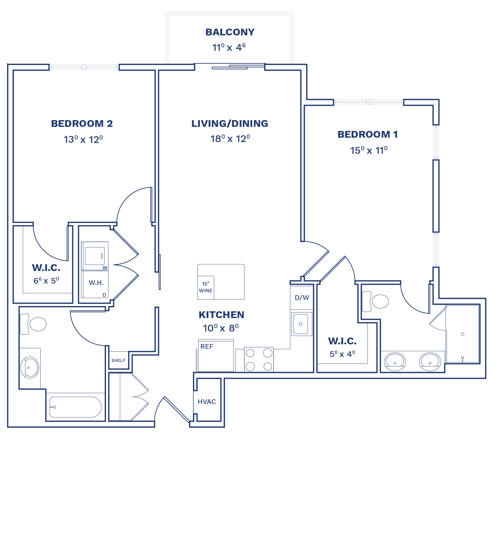 Floorplan of Unit B1