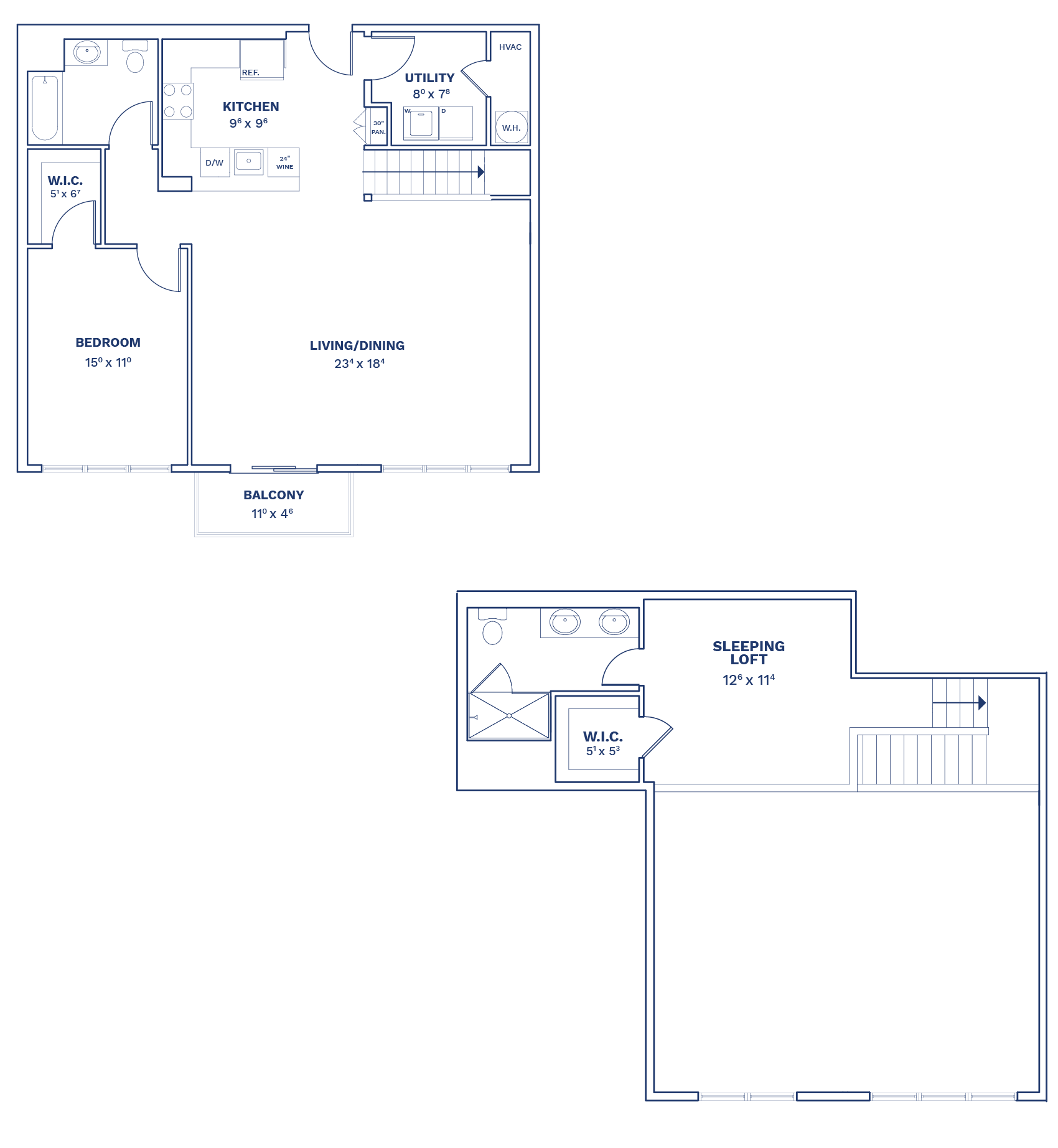 Floorplan of Unit B2.1 Loft
