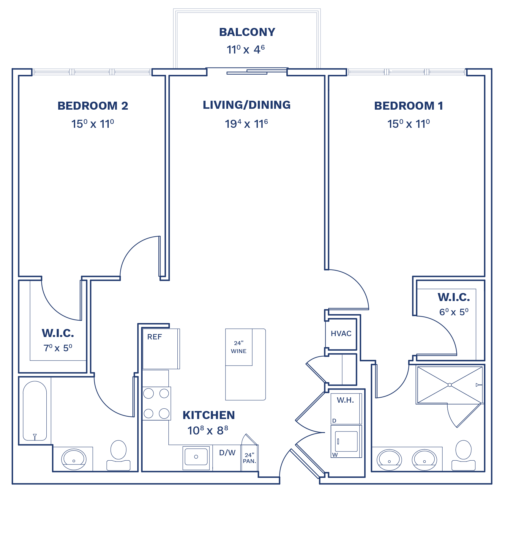 Floorplan of Unit B2.1