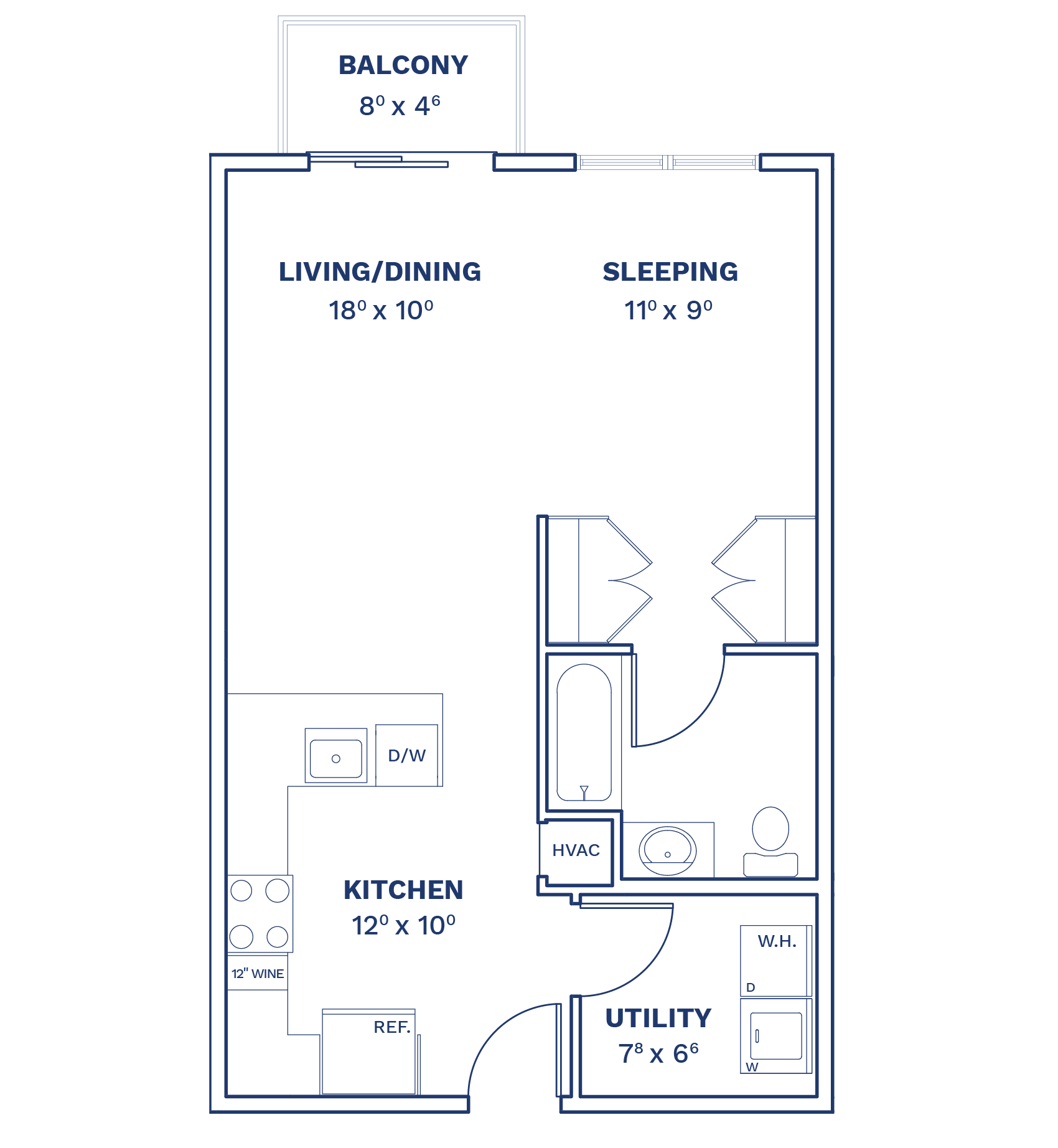 Floorplan of Unit S6